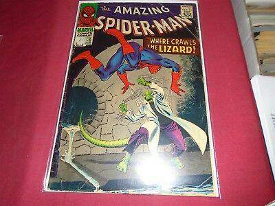THE AMAZING SPIDER-MAN #44 Silver Age Marvel Comics 1967 GD