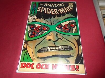THE AMAZING SPIDER-MAN #55 Silver Age Marvel Comics 1967 VG/VG-