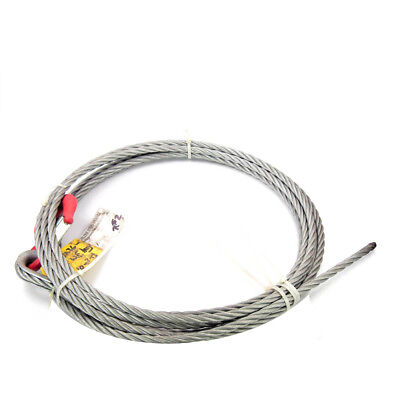 """Eye Hook with Latch plus 33 ft x 5/8"""" Wire Rope"""
