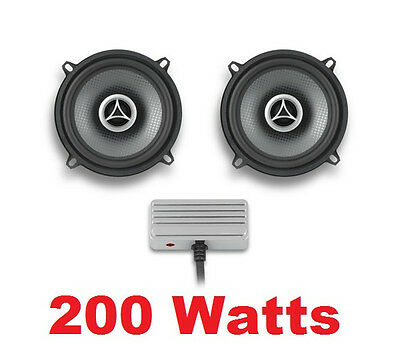 "200 Watt Fairing 4 Ohm 5 1/4"" Speakers w/ Waterproof Mini Amplifier Kit Harley"