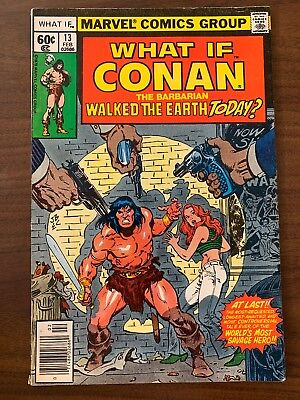What If? #13 Conan Walked Earth Today? (1979) 1st MU APPEARANCE F/VF- MARVEL KEY