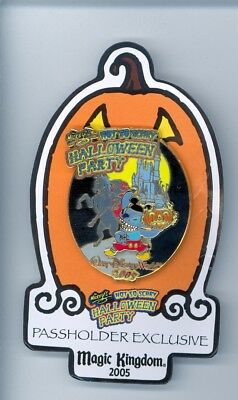 Disney Haloween Stitch as Mickey Mouse Headless Horseman's Flaming Pumpkin Pin
