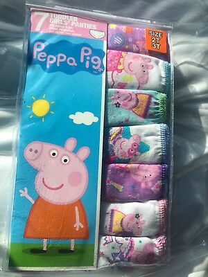 PEPPA PIG Underwear Mega Value 7 pack Panties Toddler Girls' Size 2T-3T