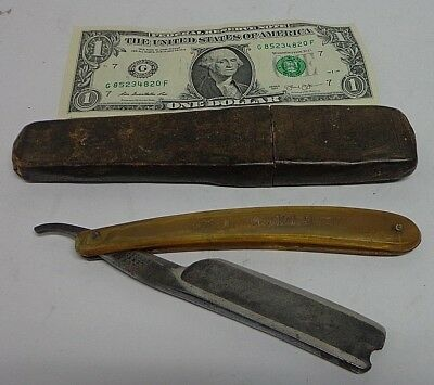 "RARE!!! Manhattan Cultery Sheffield Straight Razor Razer ""The Old English Razor"""