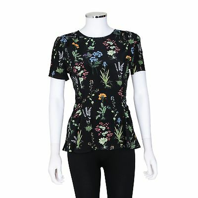 c74018b07e6 GUCCI BLACK T-SHIRT with Floral Print and Jewelled Embellished Bees ...