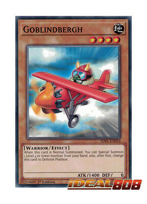 YUGIOH x 3 Goblindbergh - SDPL-EN014 - Common - 1st Edition Near Mint