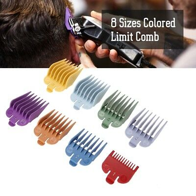 8Pcs Universal Hair Clipper Limit Comb Guide Guard Attachment Barber Replacement