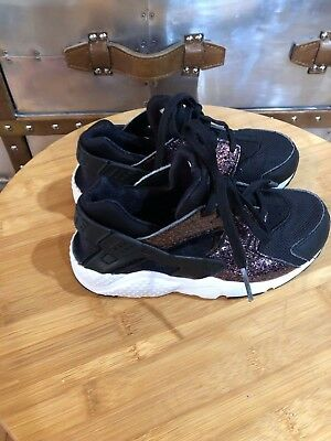 NIKE HUARACHE RUN Ps 704951-013 Pre School Gunsmoke Grey Boys Girls ... a24eed12d