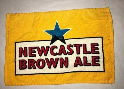 Newcastle Brown Ale Bar Towel Man Cave 17 x 11.5