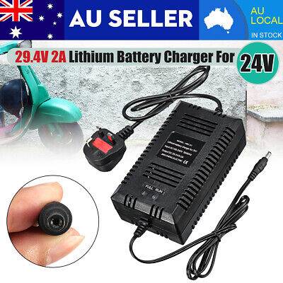 24V EBike Lithium Li-ion Battery Charger 29.4V 2A For Scooter Electric Bicycle
