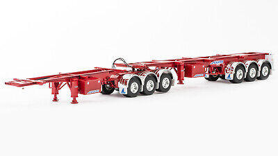 New Drake Skel B Double Trailer Combination Diecast Replica Model 1:50 Red