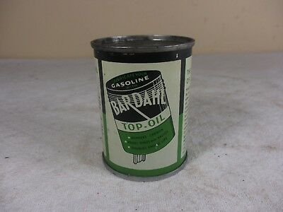 Vtg NOS Bardahl Top Oil Valve Lubricant Can 4 oz Unopened Gas Advertisement FULL