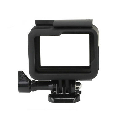Standard Frame Border Housing Case Mount + Soft Lens Cap Black For GoPro HERO5 6
