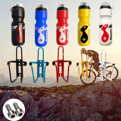 750ML Mountain Bike Bicycle Cycling Water Drink Bottle and Holder Cage Portable