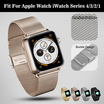 For Apple Watch iWatch 4 3 2 1 Band Strap Milanese Stainless Steel 38/42/40/44mm