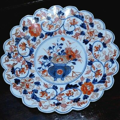 19th Century Japanese Imari Scalloped Charger