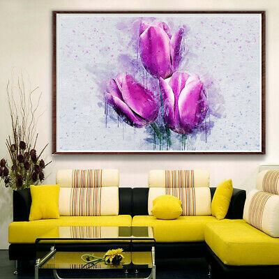 Tulip Flower Art Poster Canvas Picture Wall Home Bedroom Living Room Kitchen