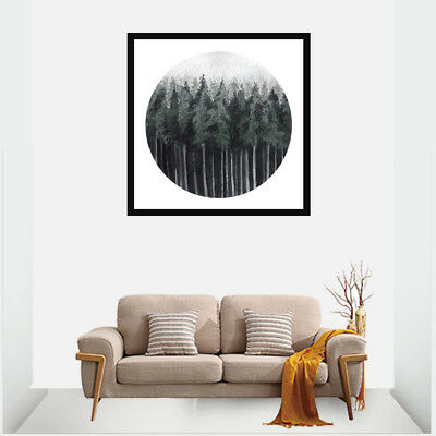 Abstract Nordic Forest Landscape Canvas Paints Poster Home Bedroom Wall Decor
