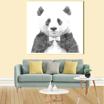 Panda sketch Canvas Painting Art Poster Picture Wall Home Bedroom Living Room