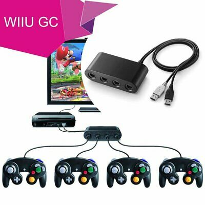 4 Port Gamecube Controller Adapter für Nintendo Wii U Super Smash Bros. PC USB