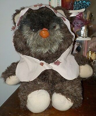 "Paploo The Ewok Plush Stuffed Figure Kenner 15"" 1984 Vintage Star Wars"