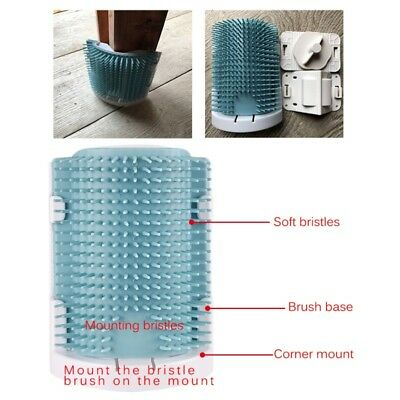 Pet Cat Dog Wall Corner Massage Self Groomer Rubber Comb Toy Tool Brush Cleaner
