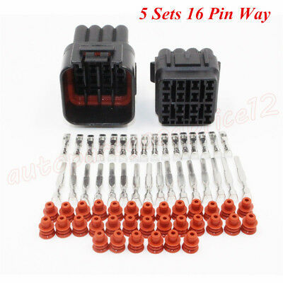 Waterproof 5 Kit 4 Pin Auto Car Truck Way Electrical Wire Connector Plug New N3