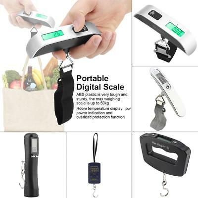 50kg LCD Digital Travel Luggage Postal Hanging Hook Electronic Weighing Scale