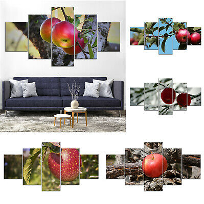 Apple Tree Fruits Canvas Print Painting Framed Home Decor Wall Art Poster
