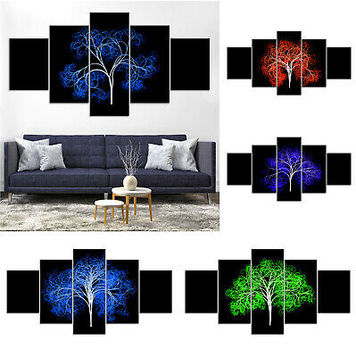 Tree of Life Abstract Blue Red Canvas Print Painting Home Decor Wall Art Poster