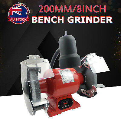 "8"" Bench Grinder 350W 200mm Knife Sharpener Power Tool Industrial Grinding D"