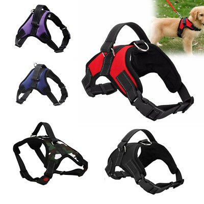 Soft Padded Pet Dogs No Pull Harness Heavy Duty Handle Training Vest UK STOCK