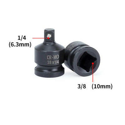 """Black Socket Adapter Converter Impact Tool Replacement 1pc Sleeve 3/8"""" to 1/4"""""""