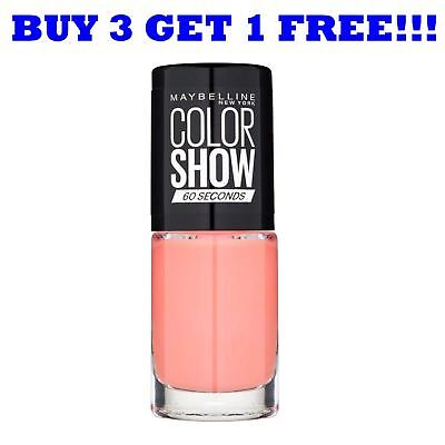 Maybelline Nail Polish Color Show 60 Seconds 7ml Canal Street Coral 329