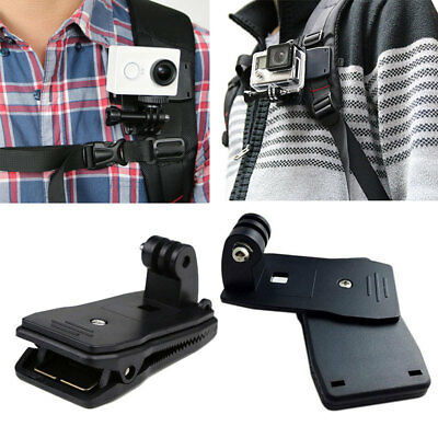 360 Rotary Backpack Hat Mounts Clip Fast Clamp Mount For GoPro 2 3+ 4 Session