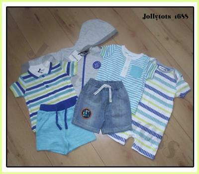 New Baby Boys Summer Clothes Bundle 0-6 Months Shorts Hoodie Romper Tops rrp £45