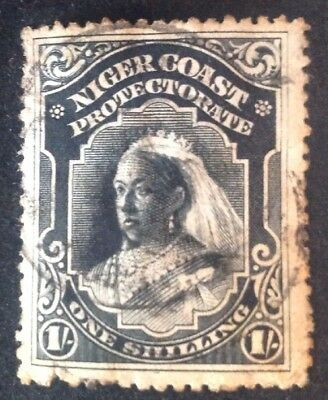 Niger Coast Protectorate 1 Shilling Black Used Stamp