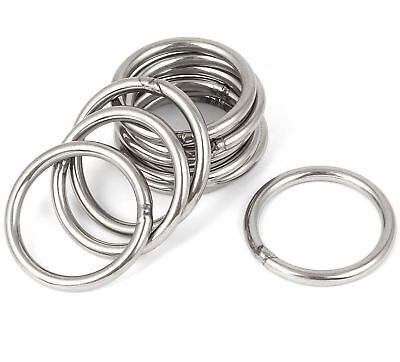 STAINLESS STEEL O-Rings WELDED Buckles ~ DIY Webbing Leather Craft ~ HEAVY DUTY