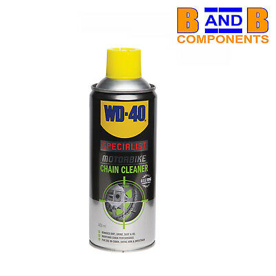 WD40 SPECIALIST MOTORBIKE CHAIN CLEANER 400ml SPRAY CAN A1402