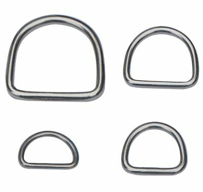 STAINLESS STEEL D-Rings WELDED Buckles ~ DIY Webbing Leather Craft ~ HEAVY DUTY