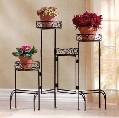 Tall Plant Stand Floor Live Outdoor Wrought Iron Indoor Multiple Holder + Gift