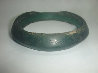 Ancient Thai Lop Buri Green Glass Bangle Excavated In The Philippines