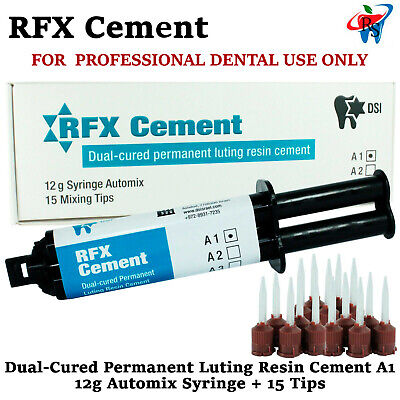 Dental Luting Resin Permanent Radiopaque Cement 12g Automix Syringe A1