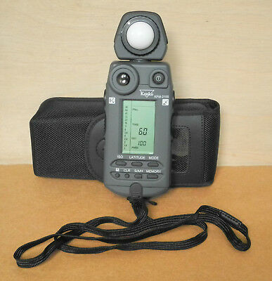 Kenko KFM-2100 Flash Meter with soft case and lanyard excellent condition