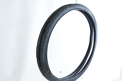 "PAIR 24 x1 3/8"" (37-540) VINTAGE JUNIOR RACING BIKE TYRES  ROADSTER TREAD BLACK"