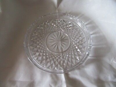 "Vintage 1970's Waterford Crystal Ireland Round 8"" Serving Plate.  Old Mark"