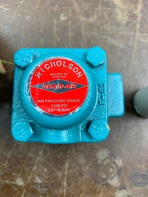 "Nicholson 5483000 Drain Air 1/2"" Air Trap 600 PSIG Max SPENCE STEAM TRAP VM"