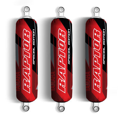 Red Black Yamaha Shock Covers Raptor YFM 250 350 660R *Special Edition* (Set 3)