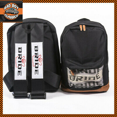 Bride JDM Style Motorsport Backpack Bag Rucksack Racing Harness Straps BLUE