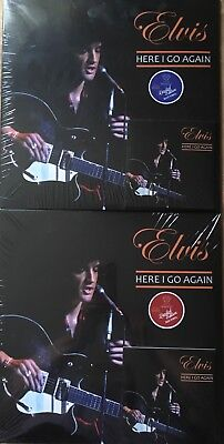 Elvis Here I Go Holding Back Years Let Me Take You Old Times 2 Lp Cd Blue & Red